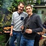 De BBQmeisters Michel en Timo.
